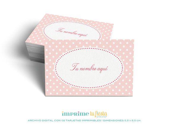 Lindas TARJETAS PERSONALES listas para imprimir y personalizadas para ti! por ImprimeTuvFiesta