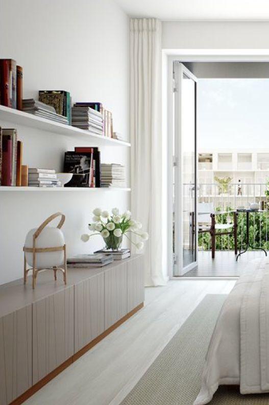 sideboard, modernt sovrum, gardin