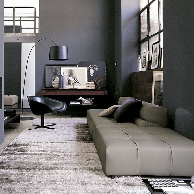 Tufty-Time Modular Sofa Comp A in Leather by B Italia - Patricia Urquiola