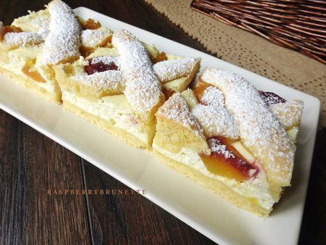 Veľmi jemný a krehučký koláč zo šťavnatou tvarohovou plnkou, vhodný na každú príležitosť, či už slávnostnejšiu alebo aj k posedeni...