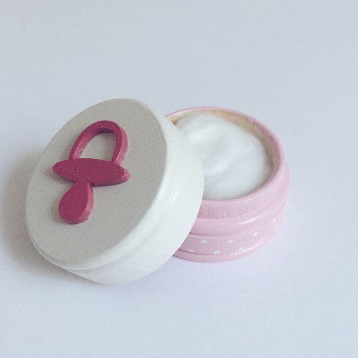 Boîte La Fée des des dents / Ma Première dent / Ma Première mèche - Rose et blanche Disponible sur www.MaPetiteFabrique.ca