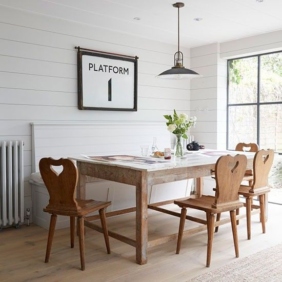 Take a tour around a hamptons style victorian terrace in for Victorian terrace dining room ideas