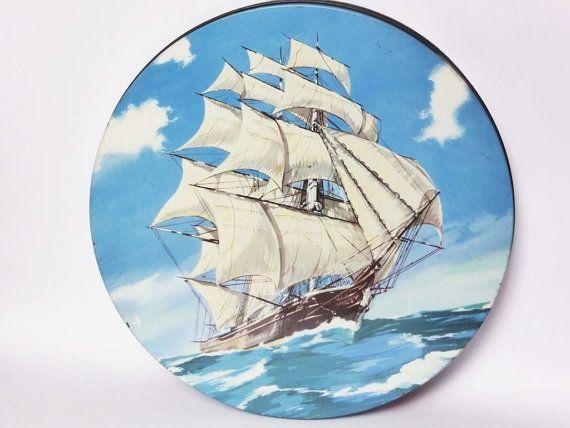 Peek Frean & Co. haut bateau nautique Tin  bidon par EdenKitsch