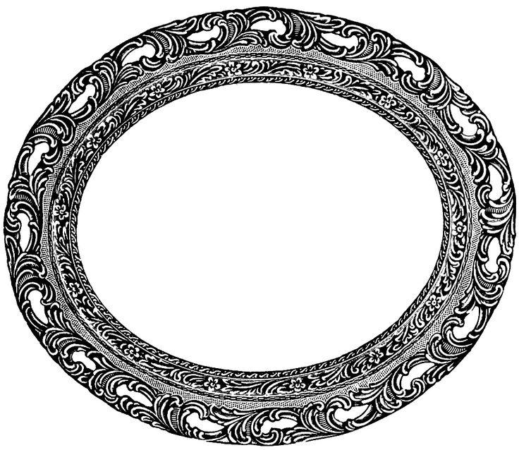Vintage Oval Frame Free Clip Art Image