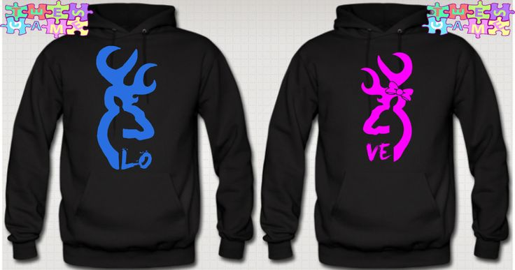 Browning Deer Love Couple Hoodies. My bf & I have something like this... I need a boy who will want these!