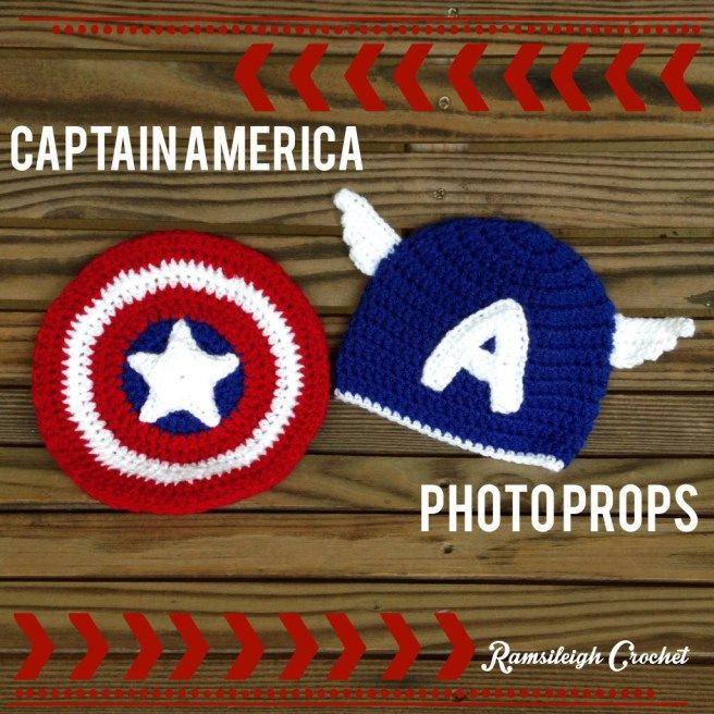 Captain America Photo Props by Ramsileigh Crochet