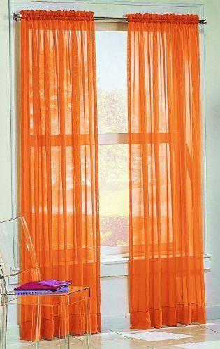 S. Lichtenberg 59 By 84 Inch Calypso Curtain Panel, Orange By S.