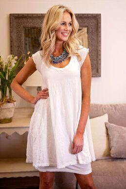 Vigorella Raglan Sleeve Dress w Pockets - Womens Knee Length Dresses - Birdsnest Online Store