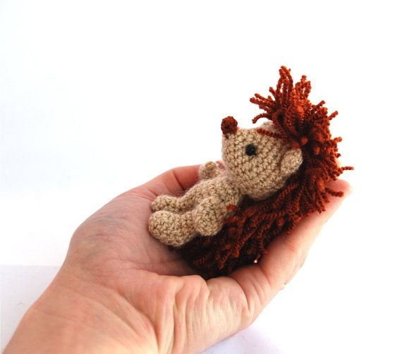 tiny hedgehog miniature hedgehog rust by tinyworldbycrochAndi