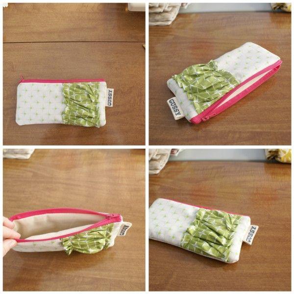 Hidden Zipper and lined pouch