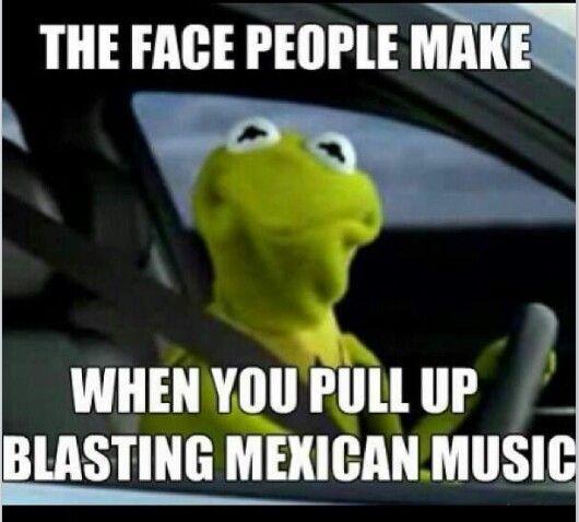Blasting mexican music