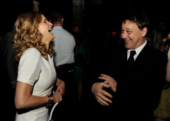 """Kyra Sedgwick Photos Photos - Actress Kyra Sedgwick (L) and producer Sam Raimi pose at the after party for the premiere of Lionsgate Films' """"The Possession"""" at Lure on August 28, 2012 in Los Angeles, California. - Premiere Of Lionsgate Films' """"The Possession"""" - After Party"""