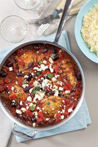 Skillet Greek Chicken. This tastes amazing with boneless chicken and ...