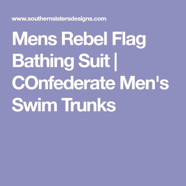 Mens Rebel Flag Bathing Suit | COnfederate Men's Swim Trunks
