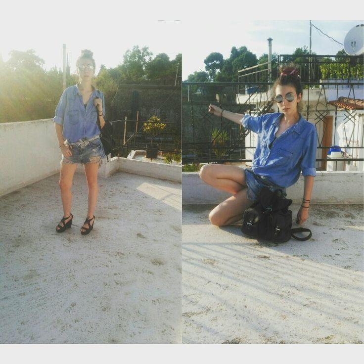 Look of the day vol4  Shirt @zara sorts@bershka platforms@migato sunglasses @stellamccourtney