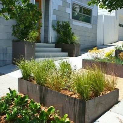 corten steel planter design contemporary gardenscontemporary