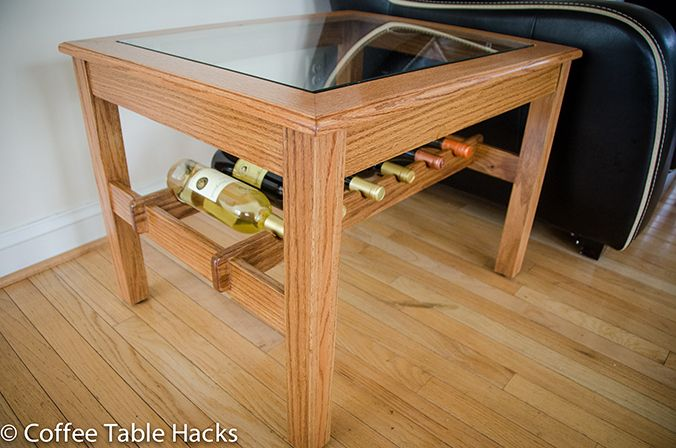 Handmade Coffee Table With Wine Rack Woodworking Diy Oak Wood Wine Rack Woodworking