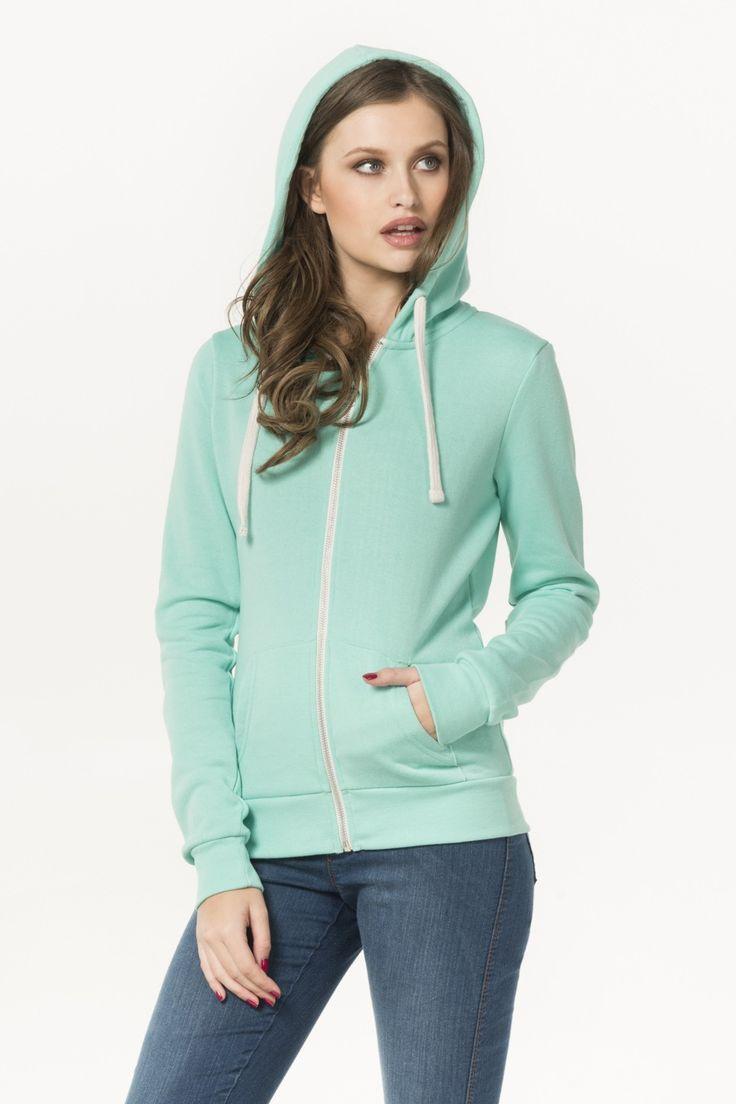 Mint green zip hoodie