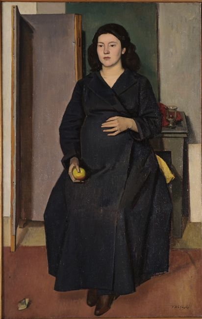 Yiannis Moralis -pregnant woman,1948   WikiArt.org