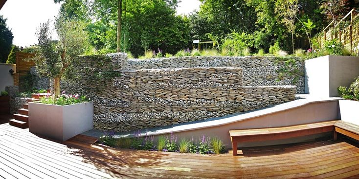unbelievable curved gabion wall. Download HD wallpapers unbelievable curved gabion wall High quality images  for Unbelievable Curved Gabion Wall Home Design Plan