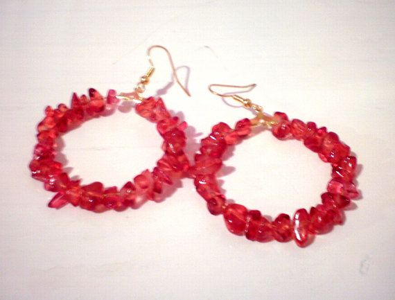 lovely red hoops by katerinaki106 on Etsy, $7.00