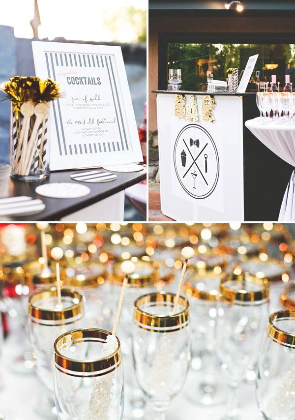 155 best diy party theme gold black white images on pinterest christmas deco christmas. Black Bedroom Furniture Sets. Home Design Ideas