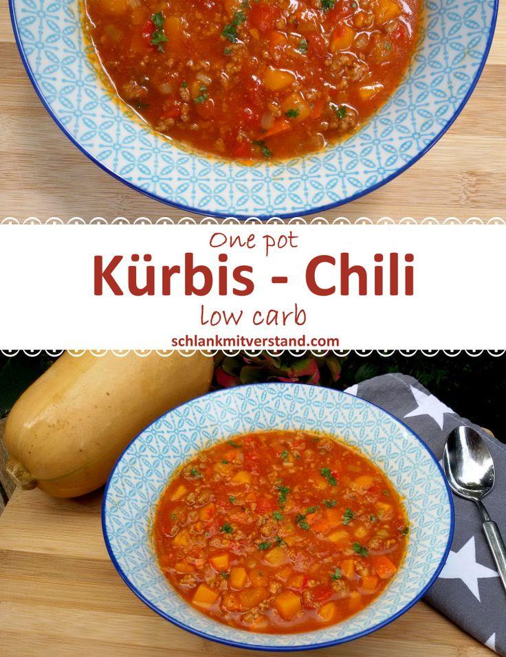 Kürbis Chili con carne low carb Ein herrlicher Eintopf, der gut wärmt, wenn die Tage etwas kälter werden. Das Gemüse lässt sich beliebig austauschen und auch ganz ohne Fleisch ist er sehr lecker. #lowcarb #abnehmen #Rezept #deutsch #gesund #Kohlenhydrate #schlank #healthy #food