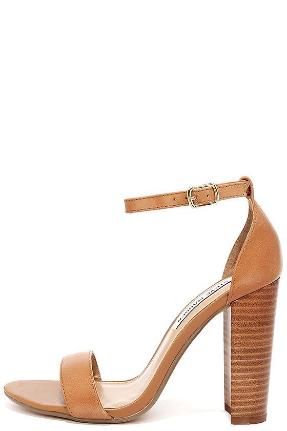 a5450dae131 Steve Madden Carrson Tan Leather Ankle Strap Heels at Lulus.com!   AnklestrapsHeels