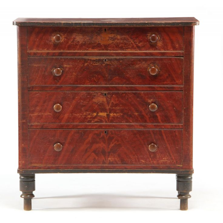 American Furniture Louisville Ky #19: North Carolina Paint Decorated Karsten Peterson Chest Of Drawers