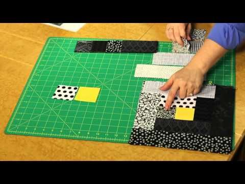 Quilting Quickly: Light in the Window - Log Cabin Quilt Pattern - YouTube