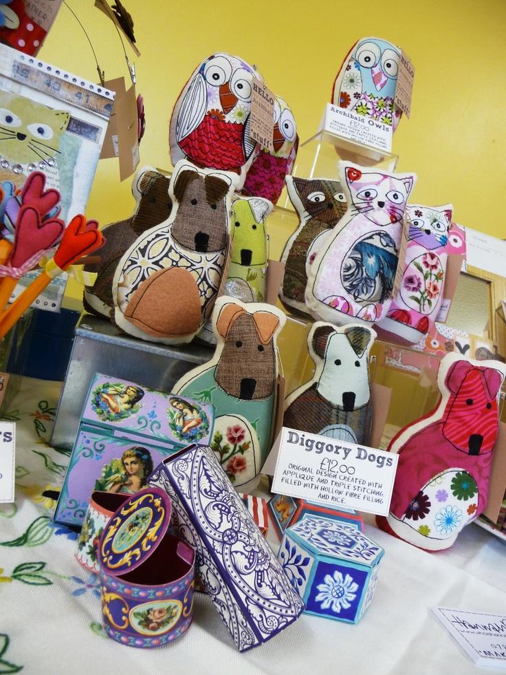 Diggory, Archibald and Petunia at their first craft fair.