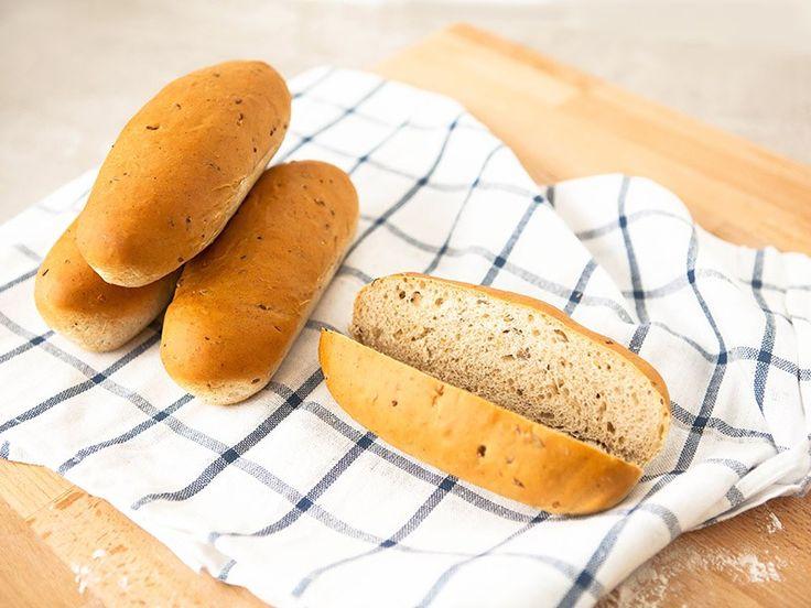 Зерновые булочки для хот-догов