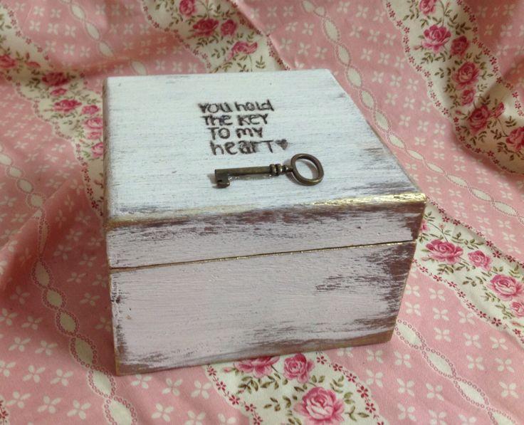 Wedding Ring Box - Wedding Ring Holder- Ring Bearer Box - Shabby Chic Wedding Decor - Ring Pillow - Personalized Ring Box - Ring Bearer by AngisSouthernChic on Etsy https://www.etsy.com/listing/181565379/wedding-ring-box-wedding-ring-holder