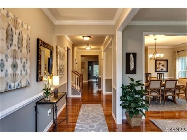 Rome, Ryan Homes, View from entry/foyer, upgraded crown molding
