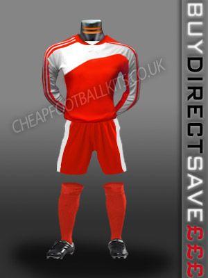 Striker Discount Football Kit Red/White