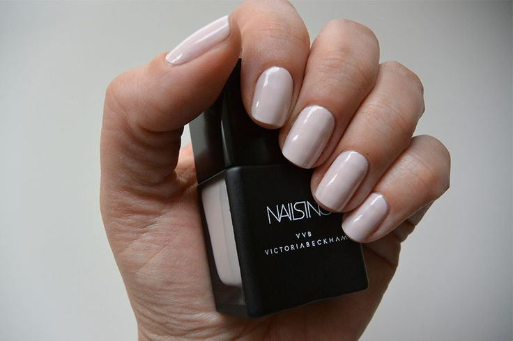 Victoria Beckham Nails Inc polish in Bamboo White