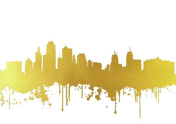 Kansas City Skyline Watercolor Greeting Cards