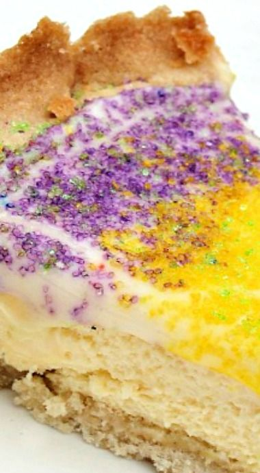 King Cake Cheesecake - HaHa ..how's come I didn't see that one coming. YUM!