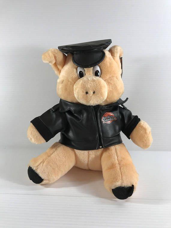 HARLEY DAVIDSON PIG stuffed pig vintage plush pig vintage