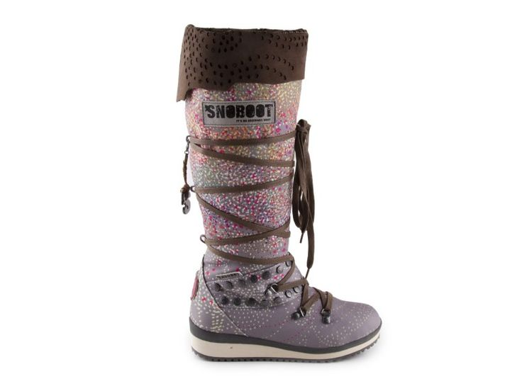 Snoboot - Stylové módní sněhule Braille High Brown / hnědá   obujsi.cz - dámská, pánská, dětská obuv a boty online, kabelky, módní doplňky