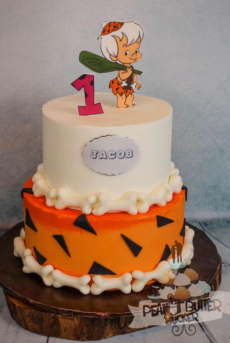 Flinstones bambam 2 tier birthday cake