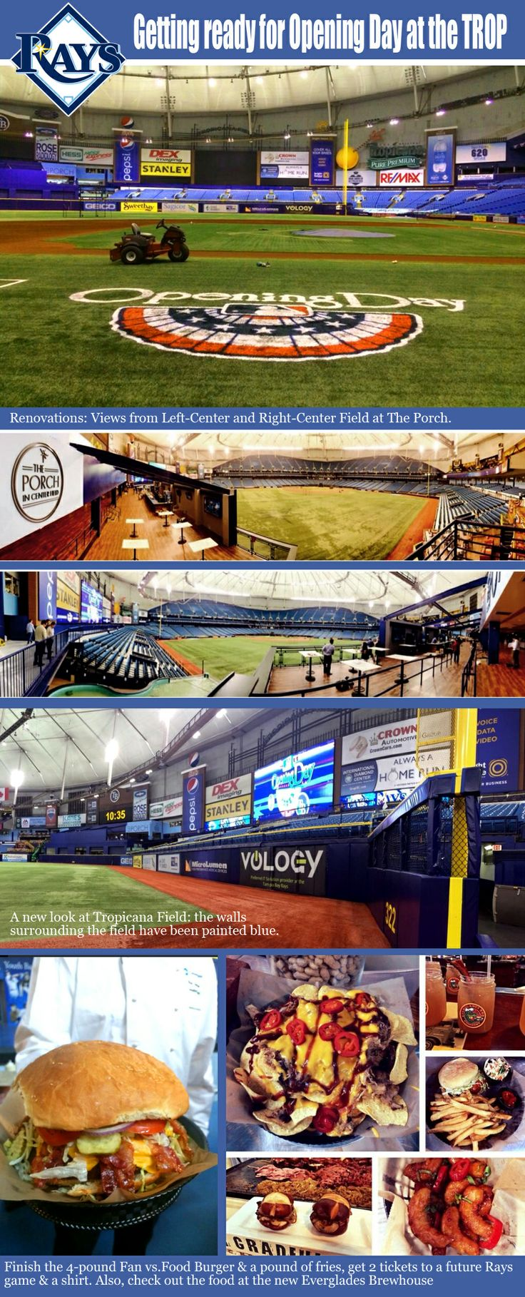Tampa Bay Rays - Getting the Trop ready for opening day! YAY!