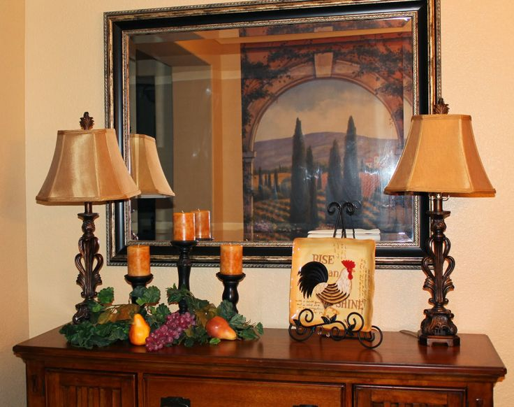Tuscan dining room, just updated my buffet