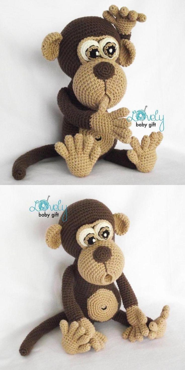 How i sew amigurumi Monkey crochet - YouTube | 1468x736