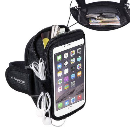 Free Shipping. Buy Sports Running Armband with Key Holder / Card Pouch, 5.5 Inch for iPhone 6, 6s Plus, Samsung Galaxy S6, S7, S7 Edge, Note 5, Google Nexus 6P, etc (Black) at Walmart.com
