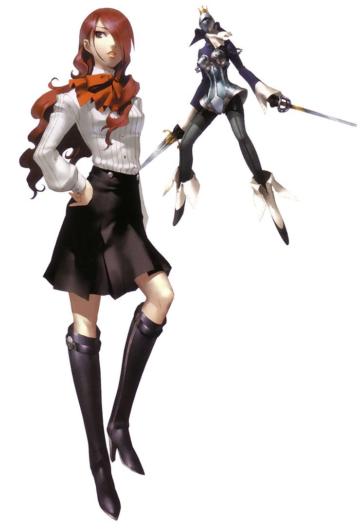"Mitsuru Kirijo from the ""Persona"" video game series."
