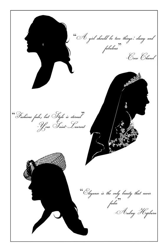 This listing is for 1 poster. 18x24 This poster contains 3 unique drawings of Kate Middleton, Duchess of Cambridge in some of her most