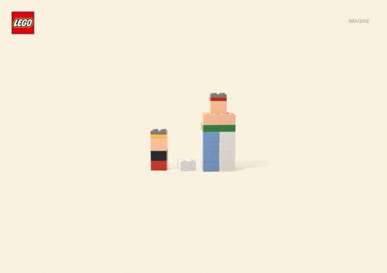 Серия плакатов Lego c легко узнаваемыми героями.