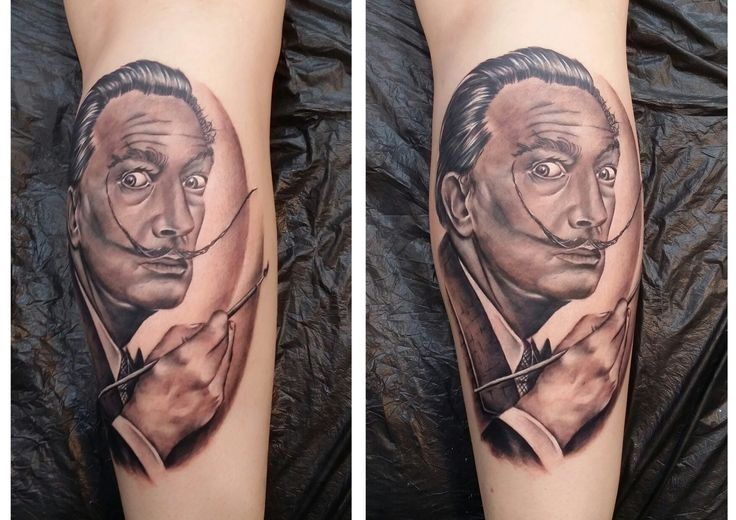 Salvador Dali tattoo