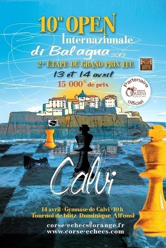 Xe Open internaziunale déchecs à Calvi les 13 et 14 avril - Corse Net Infos